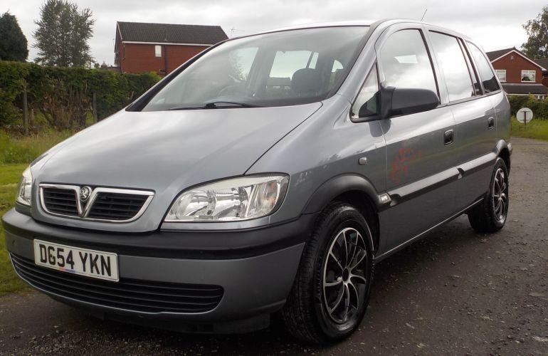 Vauxhall Zafira 1.6 i 16v Life 5dr     DG54YKN