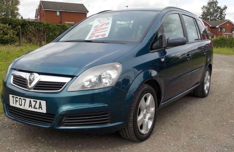 Vauxhall Zafira 1.6 i 16v Club 5dr TF07AZA